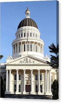 State Of California Capitol Building . 7d11738 Canvas Print by Wingsdomain Art and Photography
