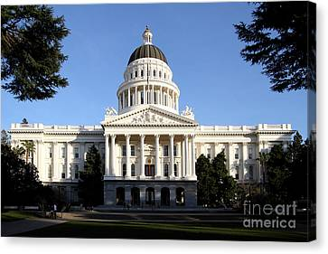 State Of California Capitol Building . 7d11746 Canvas Print by Wingsdomain Art and Photography