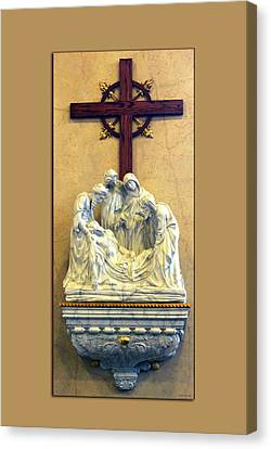Station Of The Cross 14 Canvas Print by Thomas Woolworth
