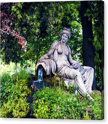 Statue In The Woods Canvas Print by Fabrizio Troiani