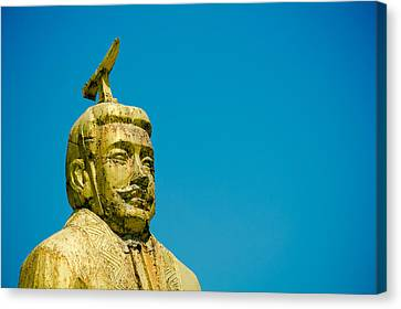 Statue Of Chinese Ancient Official Canvas Print by Pan Hong