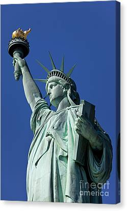 Statue Of Liberty Canvas Print by Brian Jannsen