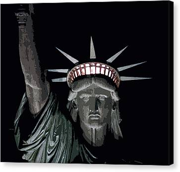 Statue Of Liberty Poster Canvas Print by David Pringle