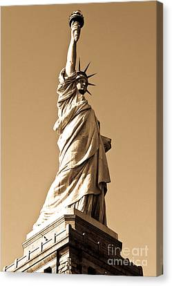 Statue Of Liberty Canvas Print by Syed Aqueel