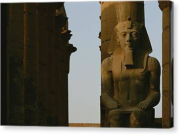 Statue Of Ramses II In The Luxor Temple Canvas Print by Kenneth Garrett