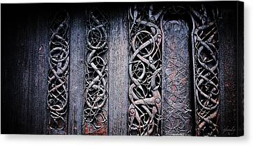Stave Carving Canvas Print by Chad Bromley