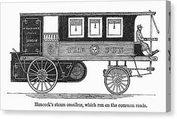 Steam Omnibus, 1830s Canvas Print by Granger