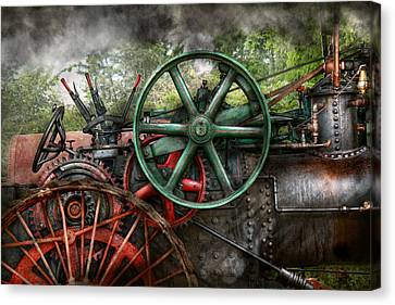 Steampunk - Machine - Transportation Of The Future Canvas Print by Mike Savad