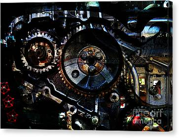 Steampunk Personal Decompression Chamber Model 39875da78803 Fully Accessorized Canvas Print by Wingsdomain Art and Photography