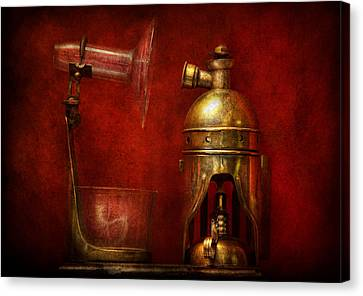 Steampunk - The Torch Canvas Print by Mike Savad