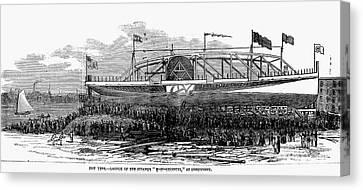 Steamship Launch, 1876 Canvas Print by Granger