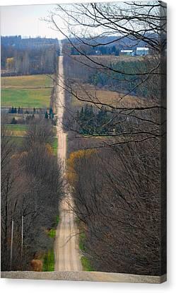 Steep Slide Canvas Print by Cyryn Fyrcyd
