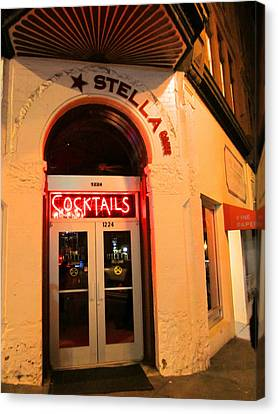 Stella Cocktail Bar At Night Canvas Print by Kym Backland