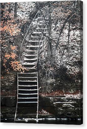Steps  Canvas Print by Jon Baldwin  Art