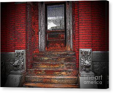 Steps To The Past Canvas Print by Victor Sexton