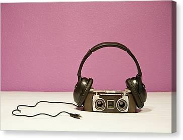 Stereophonic Camera Canvas Print by Pedro Díaz Molins