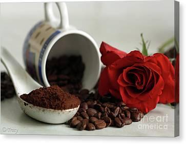 Still Life Coffee Canvas Print by Tracy  Hall