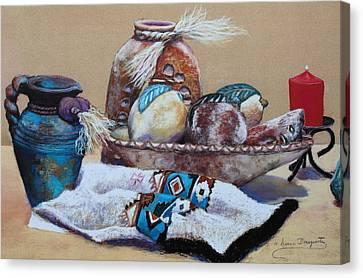 Still Life Canvas Print by M Diane Bonaparte