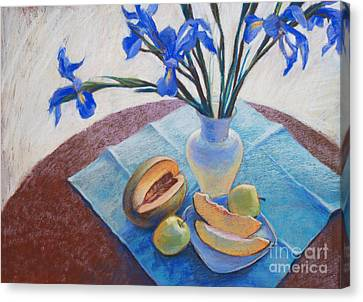 Still Life With Irises. Canvas Print by Ekaterina Gomol