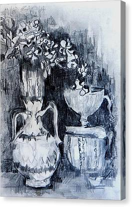 Still Life With Vases Canvas Print by Jolante Hesse