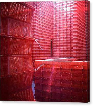 Stimulus Package..#red #crates Canvas Print by A Rey