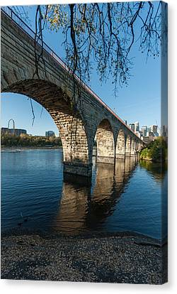 Stone Arch Bridge One Canvas Print by Josh Whalen