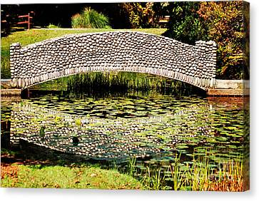 Stone Bridge Canvas Print by HD Connelly