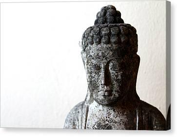 Stone Buddha Canvas Print by Janita Topan