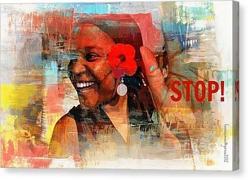 Stop Canvas Print by Fania Simon