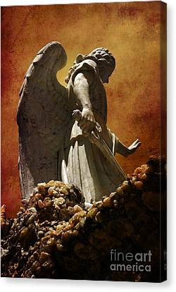 Stop In The Name Of God Canvas Print by Susanne Van Hulst
