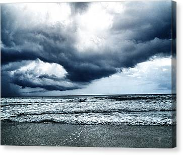 Storm At Sea Canvas Print by Barbara Middleton