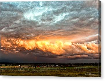 Storm Glow Canvas Print by Christopher Holmes