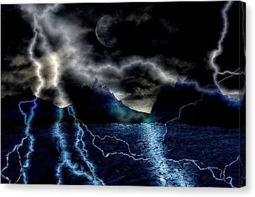 Storm In The Blue Mountains Canvas Print by Angel Jesus De la Fuente