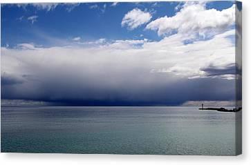 Storm On The Horizon Canvas Print by Davandra Cribbie
