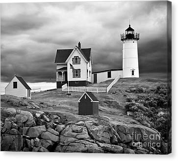 Storm Warning Canvas Print by Jim Chamberlain