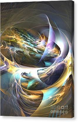 Storm's Ear - Fractal Art Canvas Print by Sipo Liimatainen