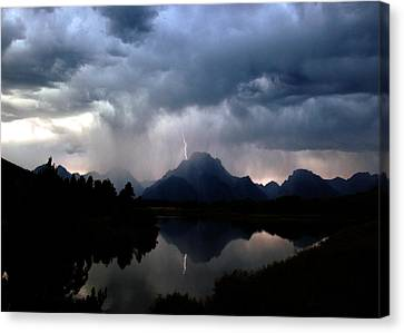 Stormy Mountain Canvas Print by Jonathan Schreiber