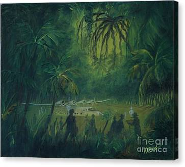 Strangers In Paradise Canvas Print by William Bezik