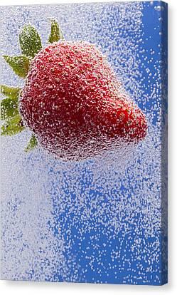 Strawberry Soda Dunk 2 Canvas Print by John Brueske