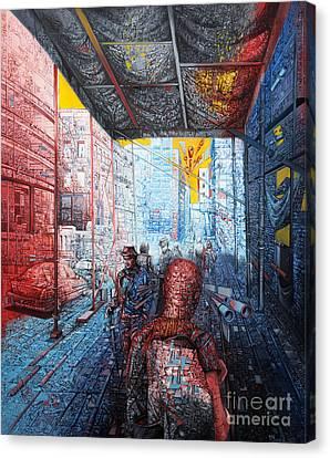 Street 2 Canvas Print by Bekim Mehovic