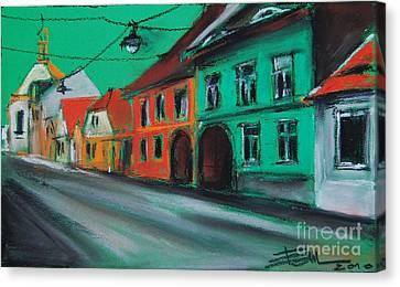 Street In Transylvania 2 Canvas Print by Mona Edulesco