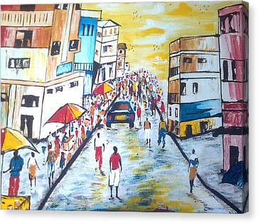 Street Walk Canvas Print by Kchris Osuji