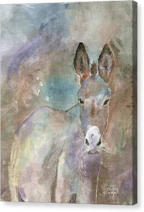 Stubborn Jesse - I'm Not Moving Canvas Print by Arline Wagner
