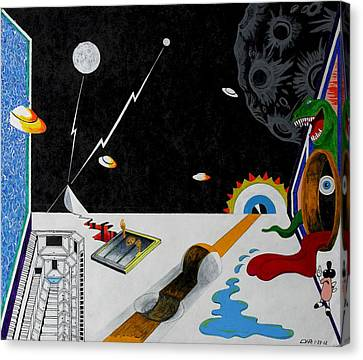 Stuck In Time And Space Canvas Print by One Rude Dawg Orcutt