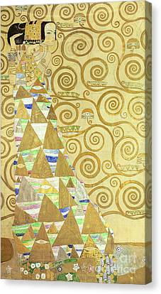 Study For Expectation Canvas Print by Gustav Klimt