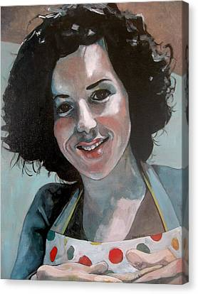 Study For Marilu' Canvas Print by Ray Agius