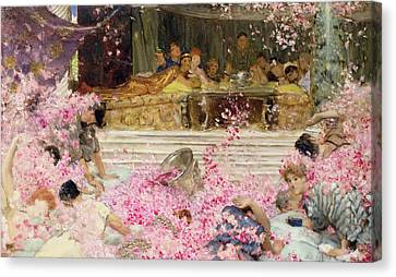 Study For The Roses Of Heliogabulus Canvas Print by Sir Lawrence Alma-Tadema