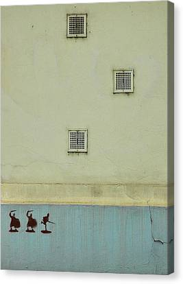 Study In Blue And Yellow Canvas Print by Steven Richman