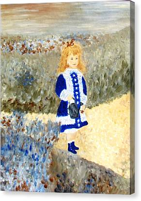 Study In Two Colors Canvas Print by Edie Schmoll