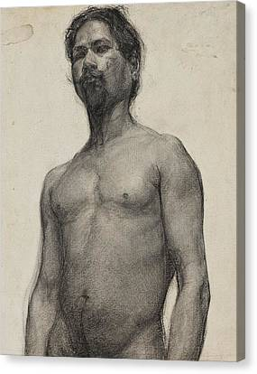 Study Of A Negro Man Canvas Print by Henry Ossawa Tanner